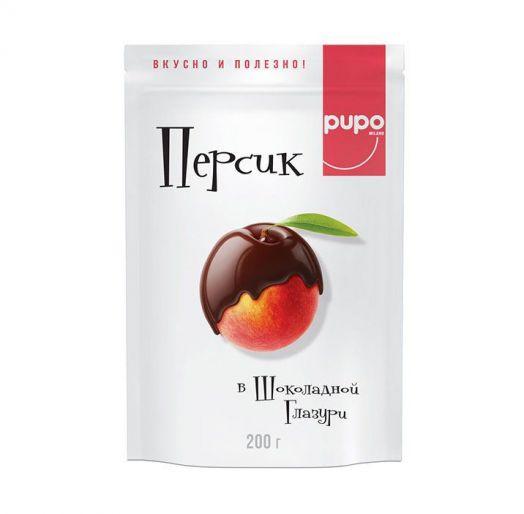 Персик PUPO в шоколадной глазури 200г
