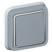 69811 Plexo Переключатель встраиваемый серый Legrand