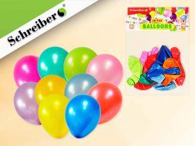 Набор воздушных шариков, 10 штук в упаковке. Цвета шариков ассорти. Вес упаковки 1,5 грамма (арт. S 334)