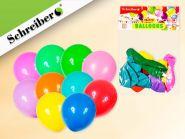 Набор воздушных шариков, 10 штук в упаковке. Цвета шариков ассорти. Вес упаковки 2,2 грамма (арт. S 335)