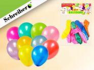 Набор воздушных шариков, 10 штук в упаковке. Цвета шариков ассорти. Вес упаковки 2,2 грамма (арт. S 336)
