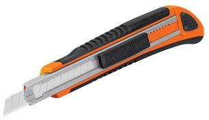 Нож c с убирающимся полотном прорезиненный TRUPER CUT-5X 16971