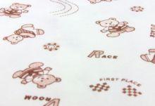 Ткань 100% хлопок интерлок-пенье (принт медвежата)
