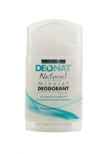 """Дезодорант-Кристалл """"ДеоНат"""", стик цельный, плоский, вывинчивающийся (twist-up), 100 гр арт.217"""