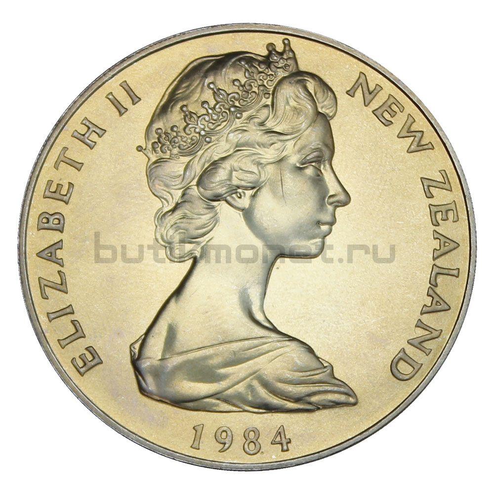 1 доллар 1984 Новая Зеландия Чёрный Робин (Остров Чатем)