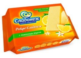 Вафли Ретро с лимонным вкусом 300г Сладонеж