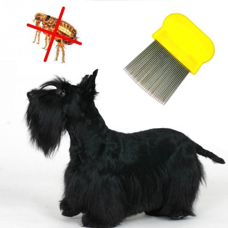 Гребешок Для Вычесывания Блох У Домашних Животных, 8х6 См, Цвет Желтый