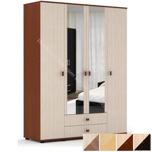Шкаф Оскар для одежды и белья с зеркалом