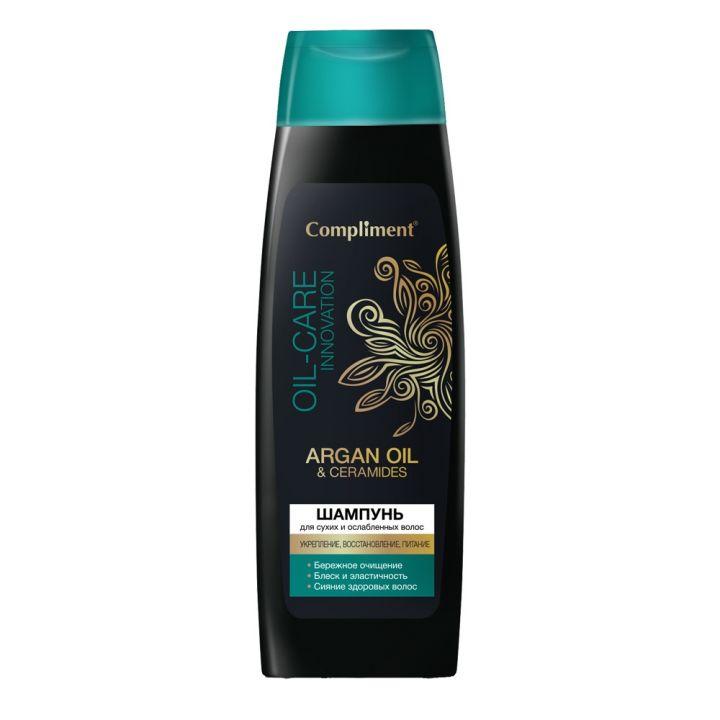 Шампунь д/волос Compliment 400мл Argan oil & ceramides для сухих и ослабленных волос