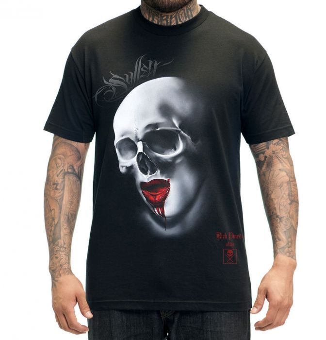 RICH PINEDA Black TEE for Men by Sullen