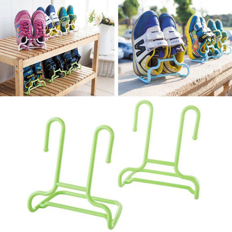 Универсальная подставка-сушилка для обуви, 2 шт., цвет салатовый