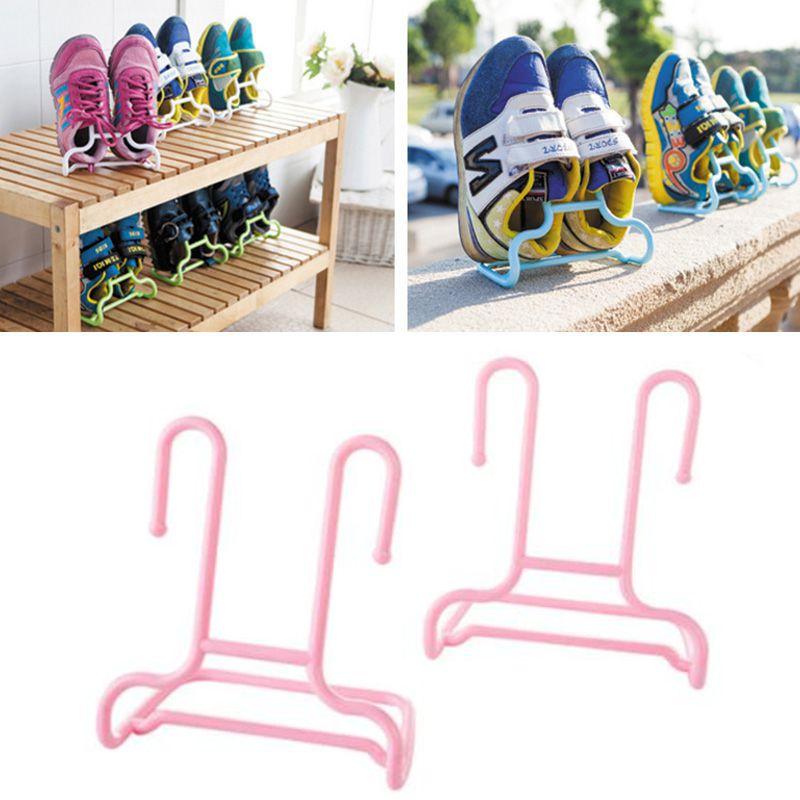 Универсальная подставка-сушилка для обуви, 2 шт., цвет розовый