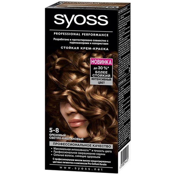 Краска д/волос Syoss Color 5-8 Ореховый Светло-каштановый 50мл