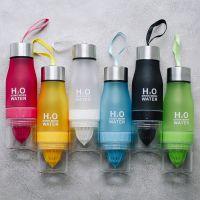 Спортивная бутылка H2O Drink more water с соковыжималкой