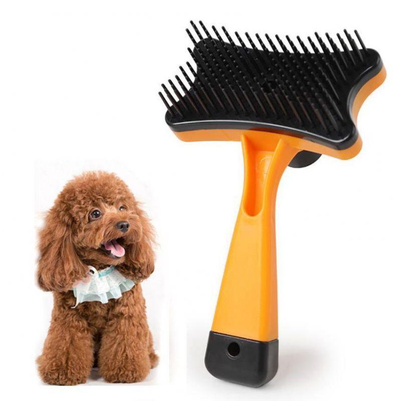 Самоочищающаяся щётка для животных Pet Grooming, цвет оранжевый