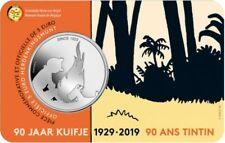 90 лет комиксам «Приключения Тинтина» 5 евро Бельгия 2019