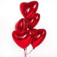Шар сердце КРАСНЫЙ фольга с гелием