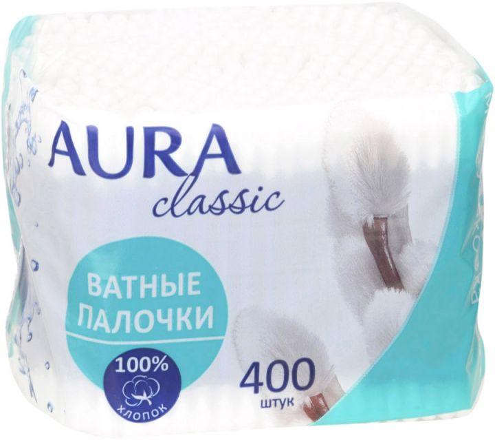 Палочки гигиенические AURA м/у 400шт