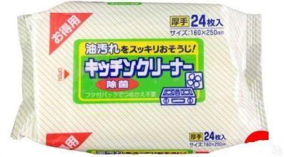 """""""Showa Siko""""  Влажные салфетки для удаления жировых загрязнений на кухне 24шт"""