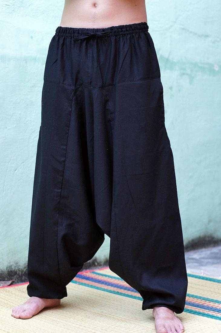 LONG Чёрные алладины / афгани на рост от 175 до 195, плотный хлопок (СПб)
