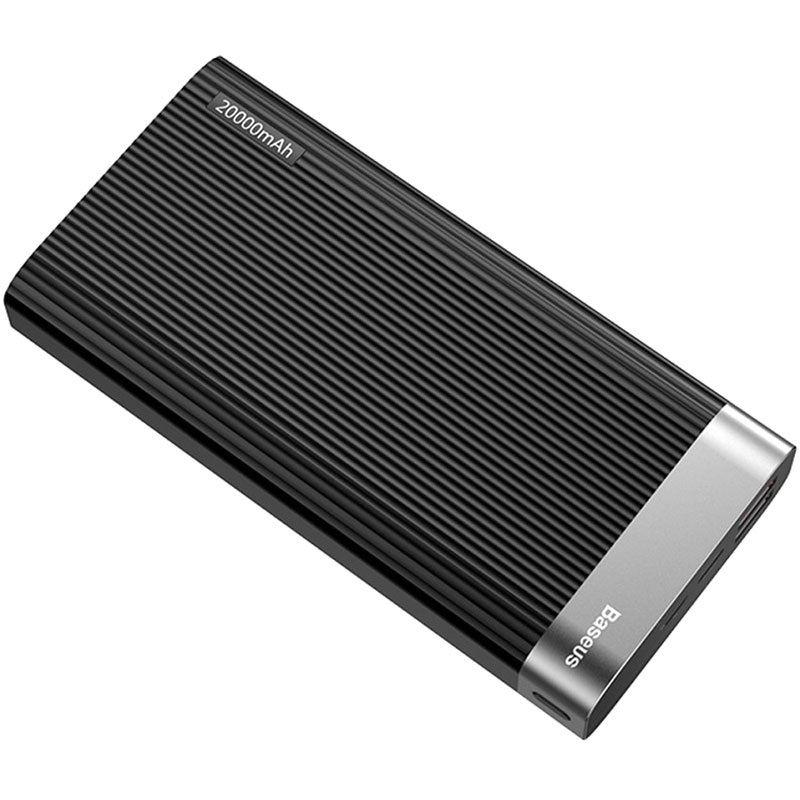 Внешний аккумулятор Baseus Parallel Type-C PD +QC3.0 power bank 20000mAh 18W черный