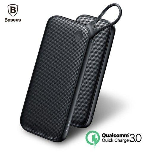 Внешний аккумулятор Baseus Powerful Type-C PD+QC3.0 Quick Charge Power Bank 20000 mAh черный