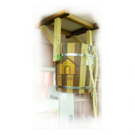 Обливное устройство из лиственницы с пластиковой вставкой на 12 л. Комбинированное