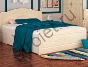 Кровать Эльза 1600*2000 с ящиками (белый/перламутр)