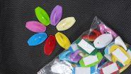 Крючок на липучке цветной (40шт)