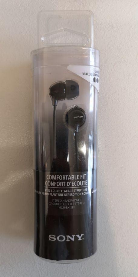 Наушники Sony MDR-EX15LP вставные черные