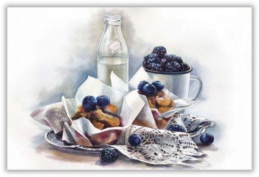Muffins & milk