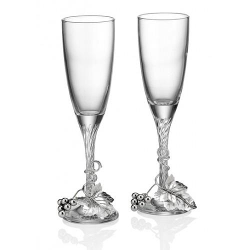 2 бокала с виноградной лозой (Италия)