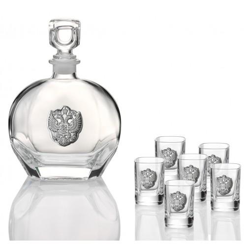 Комплект бутылка для ликера + 6 бокалов (Италия)