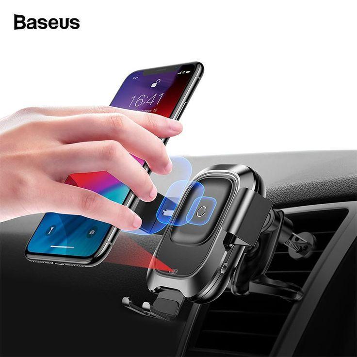 Автомобильный держатель с беспроводной зарядкой Baseus Smart Vehicle Bracket Wireless Charger Черный (WXZN-01)