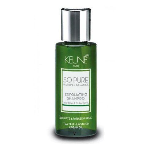 Keune So Pure Шампунь обновляющий Exfoliating Shampoo, 50 мл.