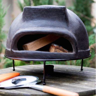 Дровяная печь для пиццы ТОСКАНА_52 маленькая (цвет черный)