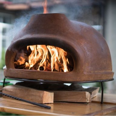 Дровяная печь для пиццы ТОСКАНА_68  большая (цвет тёмно-коричневый)