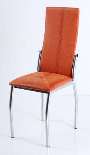 """Кухонный стул """"B-610"""" (Нубук/Хромированный металл)"""