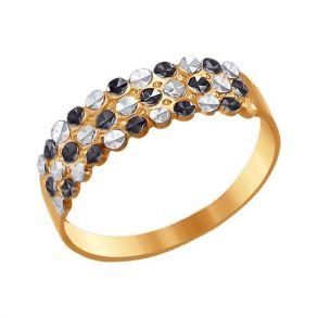 Кольцо из золота с алмазной гранью 011701 SOKOLOV