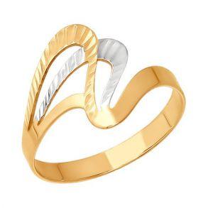 Кольцо из золота с алмазной гранью 012898 SOKOLOV