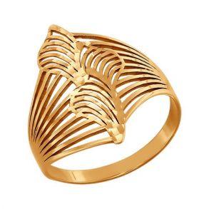 Кольцо из золота с алмазной гранью 015329 SOKOLOV