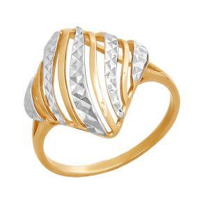 Кольцо из золота с алмазной гранью 015956 SOKOLOV