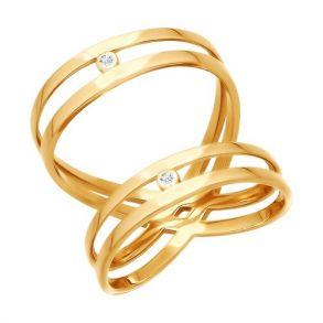 Кольцо из золота с фианитами 015969 SOKOLOV