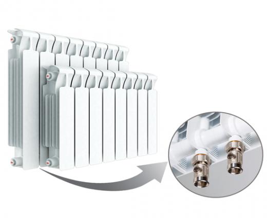 Биметаллический радиатор RIFAR MONOLIT Ventil 500 правое нижнее подключение 10 секции