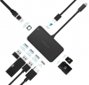 Адаптер Dodocool 8 в 1 (USB-C +3USB +Ethernet+Card Reader+HDMI +PD) DC46
