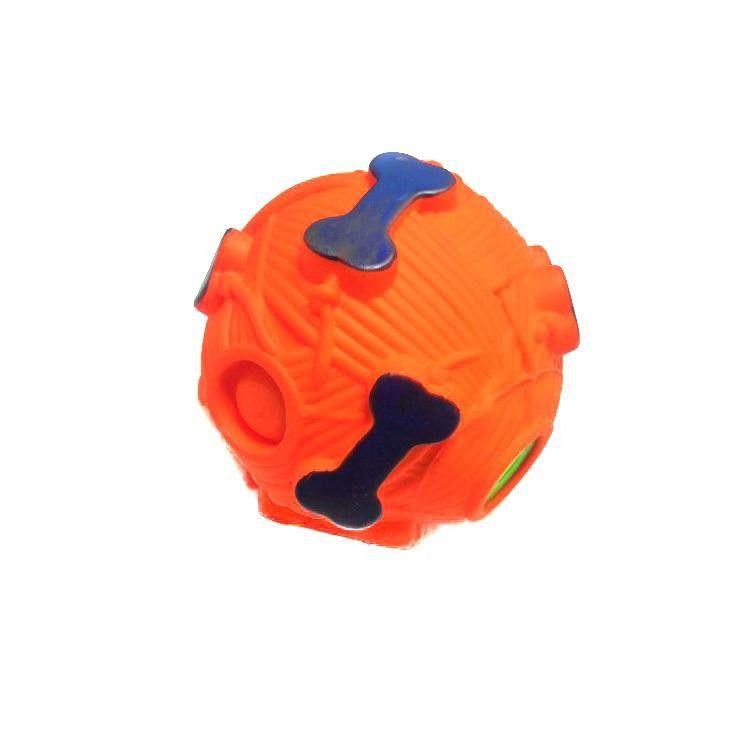 Звуковая Игрушка Для Собак Мячик С Отверстием Для Лакомства, 9 См