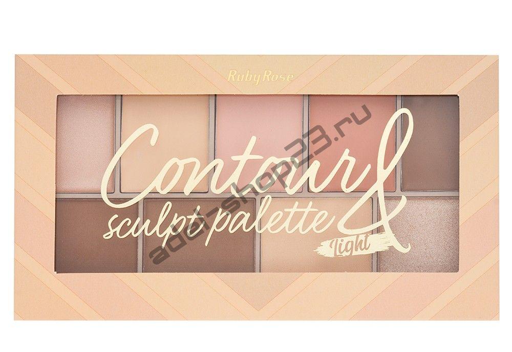 RUBY ROSE - Палитра для контурирования Contour Sculpt Palette HB-7517/L