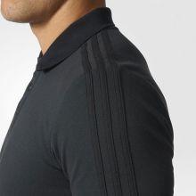 Футболка-поло adidas Tiro 17 Cotton Polo чёрная
