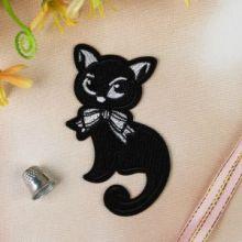 """Термоаппликация """"Кошка"""", 11*6см, цвет чёрный"""