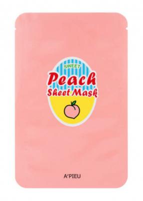Маска для лица тканевая йогуртная A'PIEU Peach & Yogurt Sheet Mask 23гр